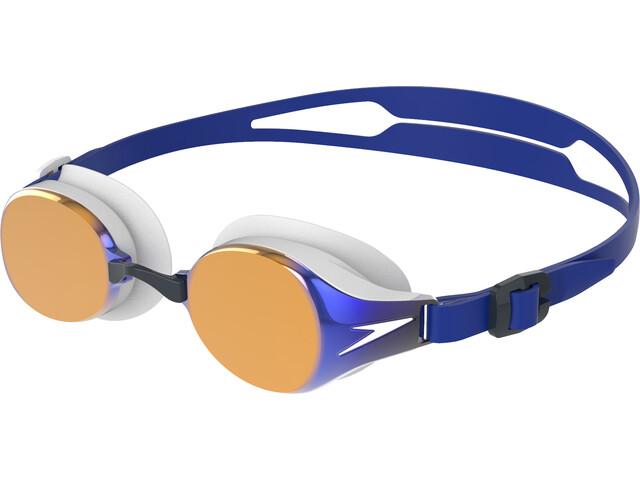 speedo Hydropure Mirror Lunettes de protection, white/gold/blue